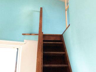 内装リフォーム ロフト梯子を手すり付きの階段へリフォーム